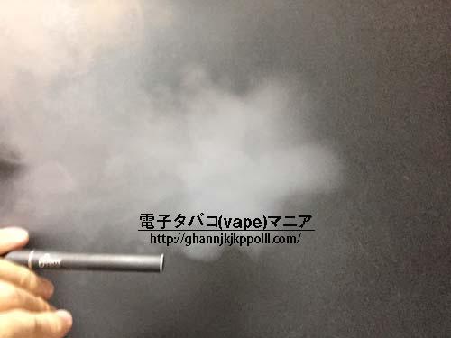 プルームテックの煙(水蒸気)